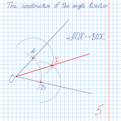 vector, construct an angle bisector