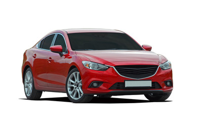 red luxury car