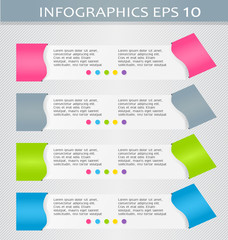 Modern infographics colorful design template with shadow