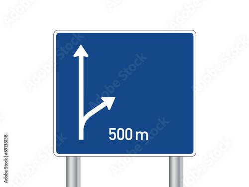 Autobahn Verkehrszeichen Leer Schild Wegweiser Ausfahrt Icon