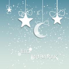 Moon Background for Muslim Community Festival Vector Illustratio