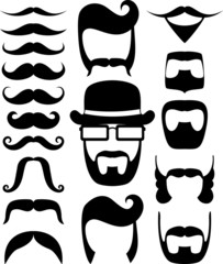 prop mustache vector collection