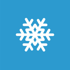 snowflake icon, white on the blue background .