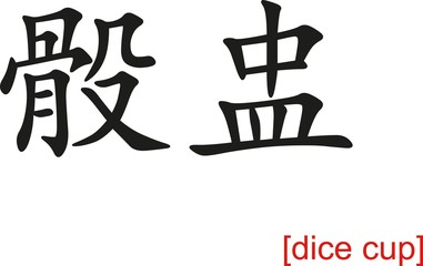 Chinese Sign for dice cup