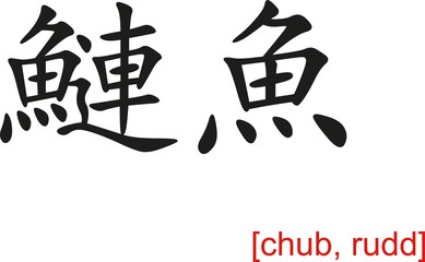 Chinese Sign for chub, rudd