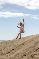 Fillette sur la Dune du Pyla