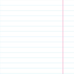 Exercise book in a ruler. Vector illustration. Background for