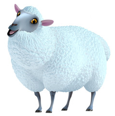 Poster de jardin Doux monstres blue sheep
