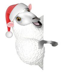 Poster de jardin Doux monstres white sheep