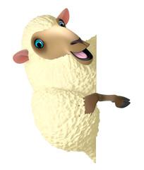 Poster de jardin Doux monstres yellow sheep