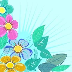 Fototapeta Abstract  flower background