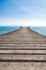 Gardasee mit Holzsteg