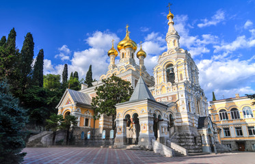 Gold Onion Domes of the Alexander Nevsky Cathedral