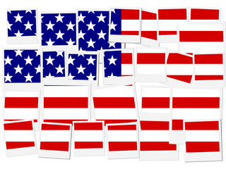 An illustration of the flag of USA, photo frame