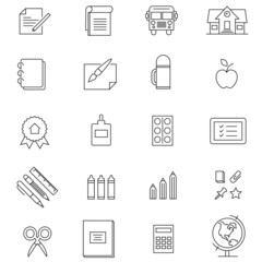 Gallery For > School Supply Outline