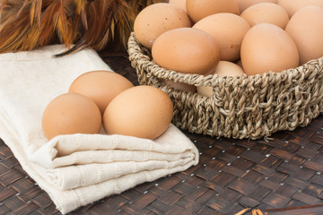 egg on the basket