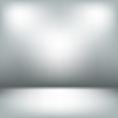 Empty light interior. Gray room abstract background