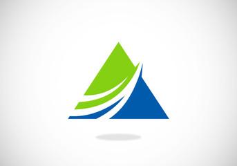 finance pyramid loop abstract vector logo