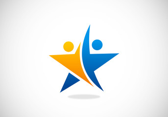 star success partner vector logo