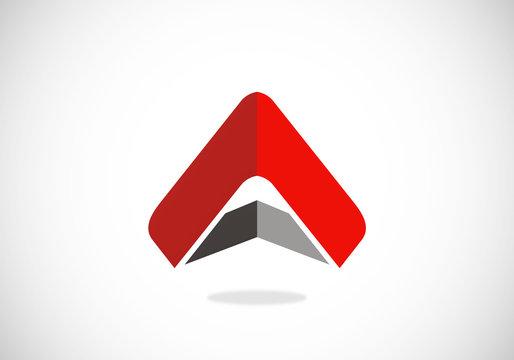 triangle pyramid abstract vector logo