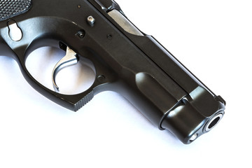 weapon automatic pistol on white background
