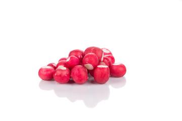 Bunch of red radish.