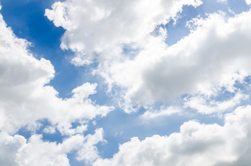 Cloud and blue sky in sunny day
