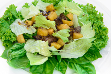 delicious salad with meat