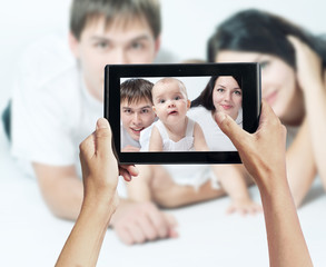 photo shooting on tablet pc