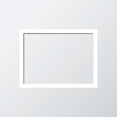 Illustration of a picture frame on grey background