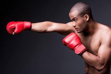 Man boxing.