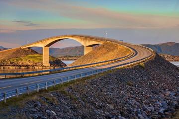 Wall Mural - Piękny krajobraz Norweski, droga atlantycka