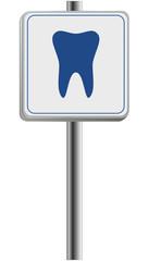 Schild - Zahnpraxis finden