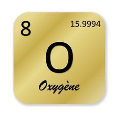 Oxygen element, french oxygene