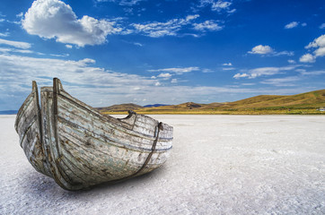 Great Boat On The Salt Lake@Turkey