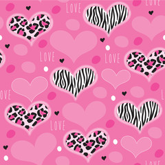 pink leopard zebra pattern vector illustration