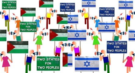 """Manifs """"Two states for two peoples"""""""