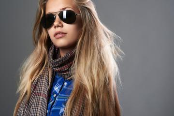 trendy girl in sunglasses