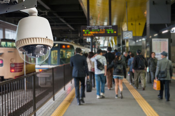 CCTV Operating in train station