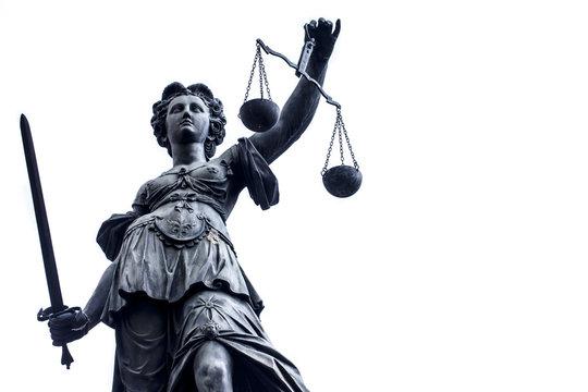 Lady Justice Stature n Germany, Frankfurt