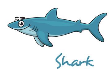 Cute cartoon shark