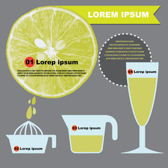 Lemon juice infographics
