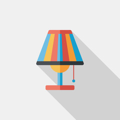 Table lamp flat icon with long shadow,eps10