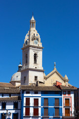 Bell Tower of the Collegiate Basilica of Santa Maria, Spain.