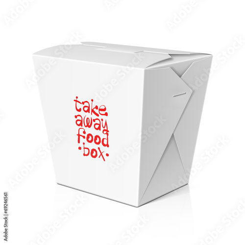 Take away food, noodle box template\