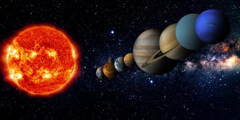 Fototapete - Solar system