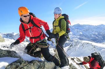 Teamwork im Hochgebirge