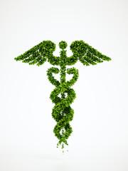 Ecology medical symbol with white background