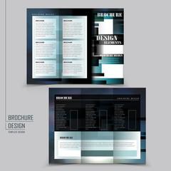 modern style tri-fold template brochure