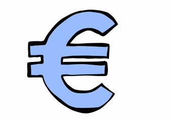 doodle symbol currency euro